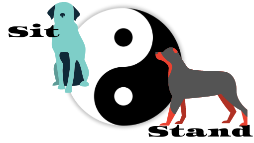 Sit and Stand balance each other like Yin and Yang