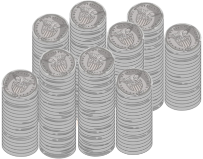 Image of Quarters to help remind readers to reward frequently